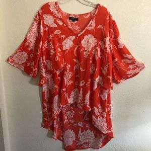 Beulah Style tropical print top size F (12)